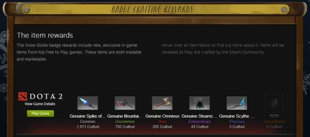 steam sale crafting rewards